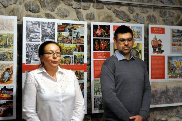 Na zdjęciu gość wałeckiego muzeum Paweł Pogodziński oraz dyrektor Muzeum Ziemi Wałeckiej Magda Suchorska