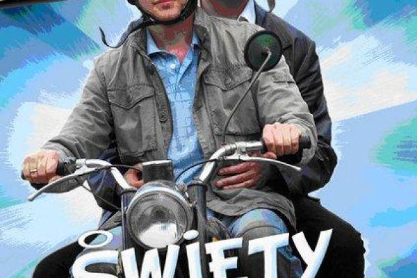 Plakat zapowiadający film pt. Święty interes