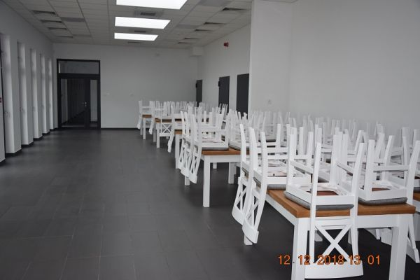 Wnętrze obiektu Zakładu Aktywności Zawodowej