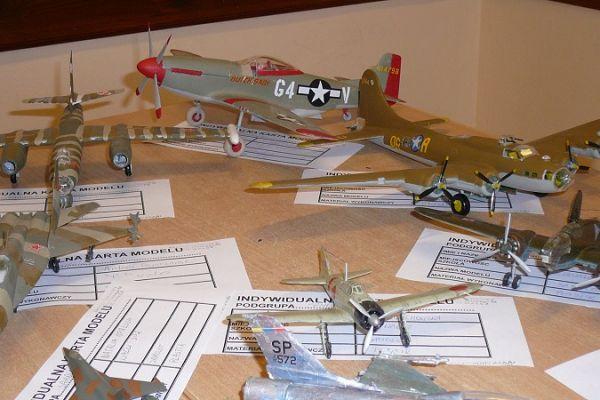 Konkurs modelarski - modele w ktegorii samoloty, śmigłowce, rakiety